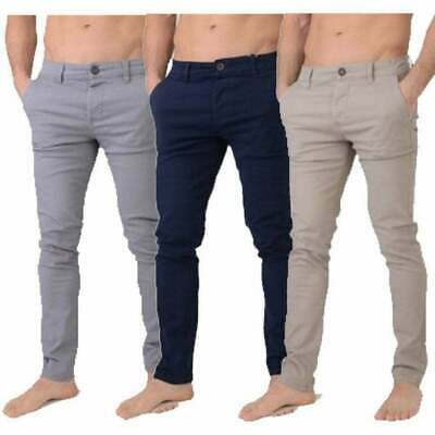 £19.99 • Buy Mens Crosshatch New Chinor Designer Slim Fit Tapered Chinos Jeans Trousers BNWT