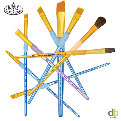 £0.99 • Buy Royal Langnickel Crafter's Choice Artists Craft Soft Grip SINGLES Paint Brushes