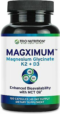 £12.03 • Buy Magnesium Glycinate   Boosted With K2 D3 Vitamin   Chelated With MCT Oil