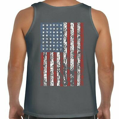 £18.79 • Buy Mens Hotrod 58 Muscle Vest Tank Top American Stars And Stripes Flag USA 119