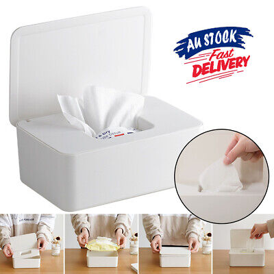 AU14.99 • Buy Household Supplies Wipes Storage Dispenser Case Holder With Lid Box Tissue Wet