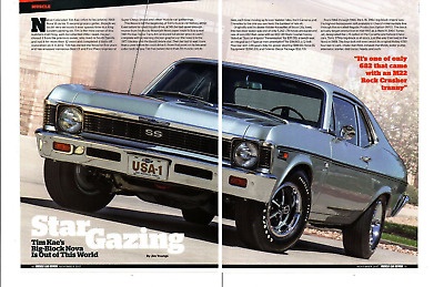 $11.99 • Buy 1969 Chevrolet Nova Ss 396 (l78) M22 Rock Crusher ~ Nice 4-page Article / Ad