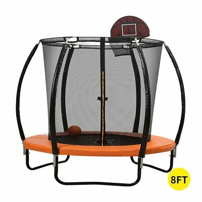 AU423 • Buy Trampoline Round Trampolines Mat Springs Net Safety Pads Cover Basketball 8FT