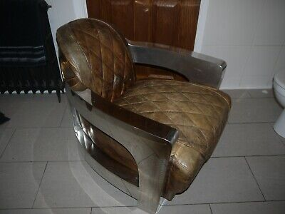 £950 • Buy Timothy Oulton Style Halo Aviator Rocket Leather Armchair