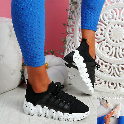 $ CDN32.38 • Buy Womens Ladies Chunky Sport Sneakers Platform Trainers Knit Women Shoes Size