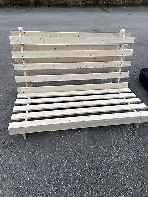 £60 • Buy Wooden Futon Sofa Bed Frame :- Double 4ft6 BASE ONLY