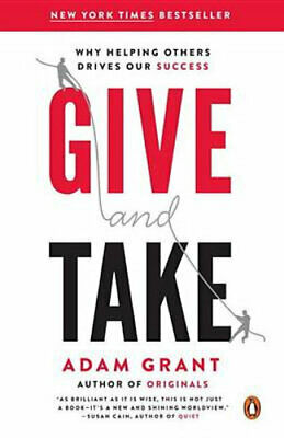 AU30.90 • Buy NEW Give And Take By Adam Grant Paperback Free Shipping