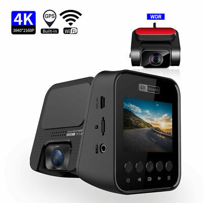 AU188.40 • Buy Dash Cam 4K Front And Rear 1080P Dash Camera For Cars Driving Recorder GPS WIFI