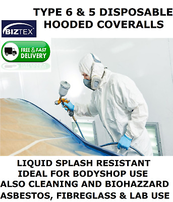 £6.99 • Buy Painting Bodyshop Coveralls (type 6 & 5 Same As Tyvek) Biztex St40.overall.spray