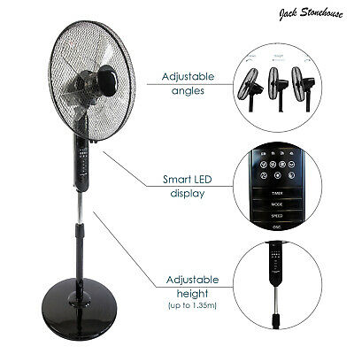 £39.99 • Buy Pedestal Fan Cooling 16  Inch 3 Speed Oscillating Floor Standing Remote Control