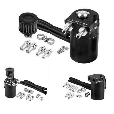 $39.99 • Buy 300ML Aluminum Engine Oil Catch Can Reservoir  Tank With Filter Universal