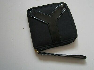 £5 • Buy Yves Saint Lauren Black  Coin Purse. Wrist Strap, Zip And Mirror