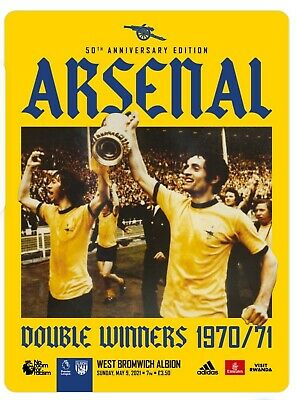£6.95 • Buy 2020-21 Arsenal V West Bromwich Albion