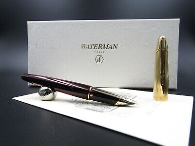 Fountain Pen Waterman Edson Ruby Red With Solid Gold Nib 18kt F Rare New In Box  • 1,086.78£