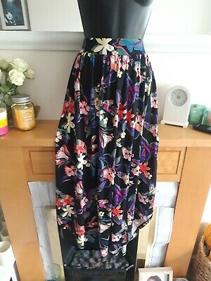 £4.80 • Buy Stunning Wkmens Skirt Size 14 New With Tags Asymmetrical Floral Tropical Print