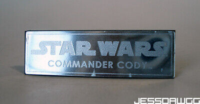 $ CDN9.72 • Buy Name Plate 1/6 Commander Cody Stand Base By Hot Toys Star Wars 12  Figure