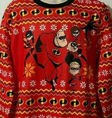 $24.29 • Buy DISNEY Pixar THE INCREDIBLES 2 Ugly CHRISTMAS SWEATER Adult UNISEX XL 2XL NWT
