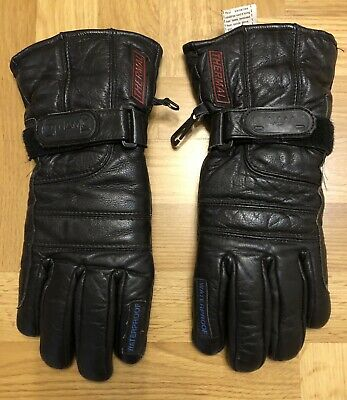 £10.49 • Buy Dynamic Leather Motorcycle Motorbike Scooter Gloves Ladies XL