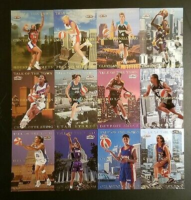 $ CDN54.59 • Buy 1999 Hoops WNBA CARDS TALK OF THE TOWN Complete Set (12) Stated ODD 1:12