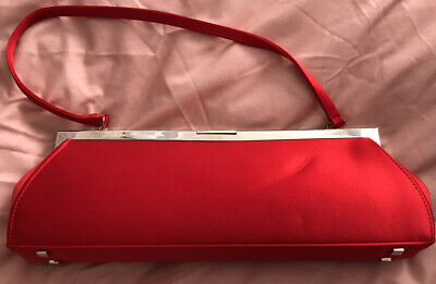 £45 • Buy PHILIP TREACY Ladies Red Clutch Bag - Butterfly Pattern Inside - Immaculate Used