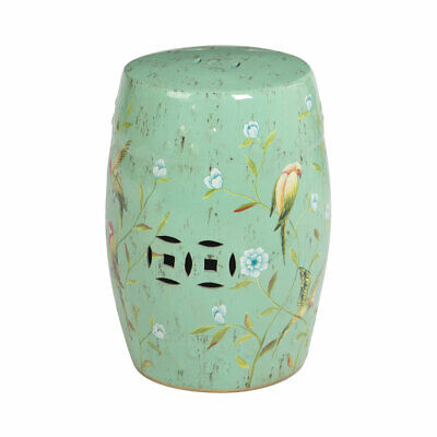 £111.99 • Buy Premier Ceramic Turquoise Stool Home Furniture Chair Floral Detail Robust Table