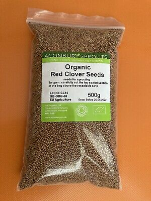 £11.99 • Buy Bumper Pack.Red Clover Seeds 500g Organic Sprouting Aconbury Sprouts Microgreens