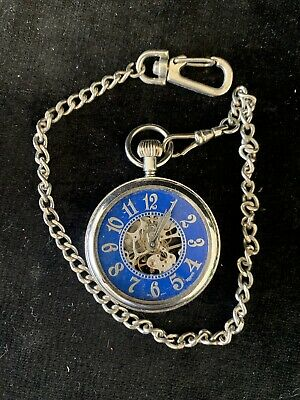 $22.50 • Buy Majesti Vintage Mechanical Wind Up Pocket Watch - For Parts Not Working(cp)