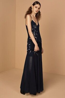 AU99.99 • Buy Sass & Bide Nature Games Maxi Dress Size 8 Formal Wedding Cocktail Navy RRP $970