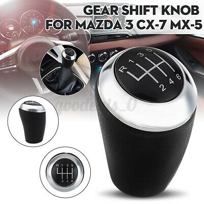 AU19.85 • Buy 6 Speed Manual Gear Shift Knob Leather For Mazda 3 5 6 Series CX-7 MX-5 CX7 MX5