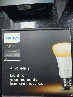 AU173.51 • Buy Philips Hue White Ambiance E27 Bulbs With Dimmer And Philips Hue Bridge BNIB