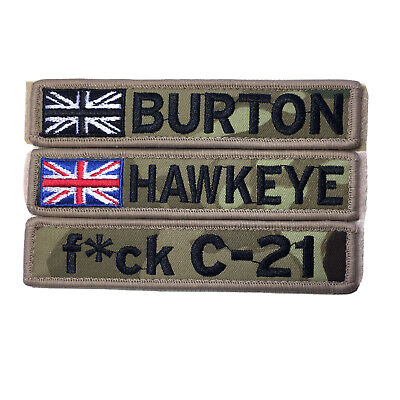 £6.99 • Buy 1 X Custom Name Patch Hook And Loop 5 X1 Army AirSoft Paintball Tactical Vest