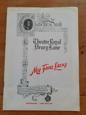£6 • Buy My Fair Lady Theatre Royal Drury Lane Programme With Cast Change