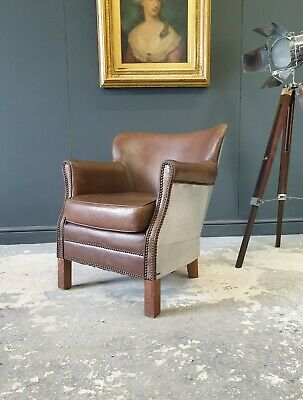 £225 • Buy 103.professor Halo Style Brown Chesterfield Armchair Delivery Avail 🚚 🇬🇧