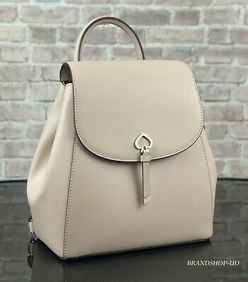 $ CDN150.37 • Buy KATE SPADE NEW YORK ADEL LEATHER MEDIUM BACKPACK SHOULDER BAG PURSE $299 Beige