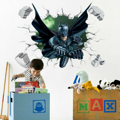 AU16.59 • Buy Paper Decal Sticker Wall Kids Removable Room Batman 3D Poster Decoration