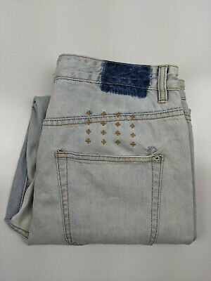 AU69.99 • Buy Tsubi / Ksubi Bleached Blue Distressed   Jeans 34 W