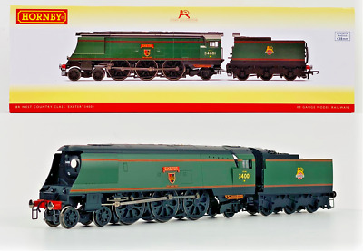 Hornby 00 Gauge - R3115 - Br 4-6-2 West Country Class 'exeter' 34001 Boxed • 149.99£
