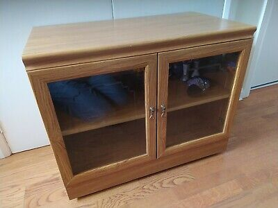 £10 • Buy Rectangular Unit With Glass Doors - TV Cabinet Stand Shelves - Collection Durham