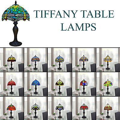 £66 • Buy 10 Inch Tiffany Table Lamp Handcraft Art Bedside Light Desk Lamps Stained Glass