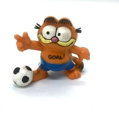 £5.99 • Buy Vintage Garfield Football Player Vinyl Bully Figure Collectable 5cm 1980s Toy