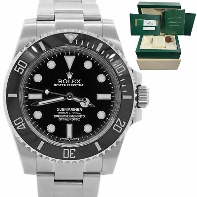 $ CDN13578.93 • Buy 2015 Rolex Submariner No-Date Stainless 40mm Black Ceramic Dive Watch 114060