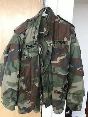 $24.50 • Buy Vintage US Army Military M65 Cold Weather Camo Field Jacket Adult Small Short