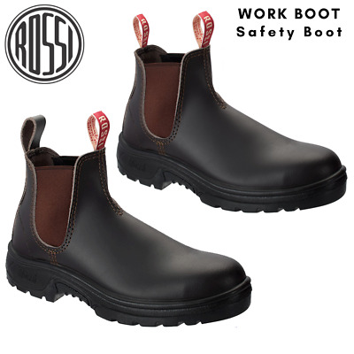 AU85.97 • Buy Rossi Work Safety Boots Steel Toe Cap Bobcat Leather Men's Shoes