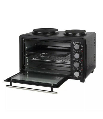 £89.99 • Buy 28L Electric Mini Toaster Oven & Grill Rotisserie Compact Cooker With Hot Plates