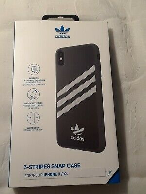 AU11.54 • Buy NEW Adidas Samba 3-Stripes Snap Case For IPhone X / XS 5.8  -BLACK WHITE STRIPES