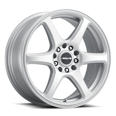 $108 • Buy 4x100/114.3 14  Inch Wheel Rim Raceline 146S MATRIX 14x5.5 +35mm Silver