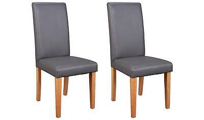 £69.99 • Buy Pair Of Midback Dining Chairs - Charcoal