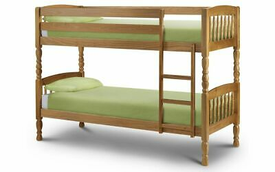 £279.99 • Buy Lincoln Bunk Bed 3ft Single Bunk Beds Solid Pine 2 Man Delivery Julian Bowen