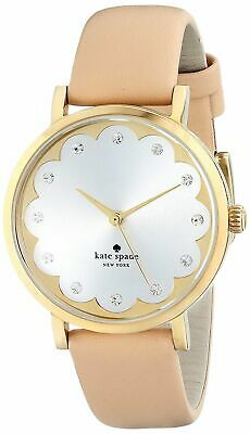 $ CDN75.13 • Buy Kate Spade Metro Women's Beige Leather Gold Tone Steel Watch 1yru0586