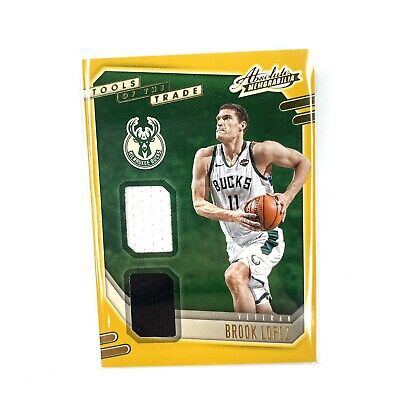 AU103.03 • Buy 2020-2021 Absolute Memorabilia Tools Of The Trade Brook Lopez Jersey Patch Bucks